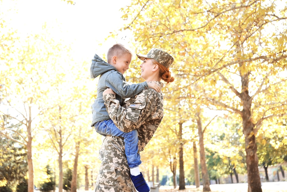 Military Mom & Son